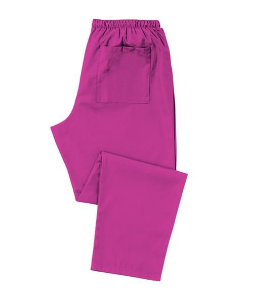 Scrub Trousers Full Elastic Magenta - D398MT-XSR