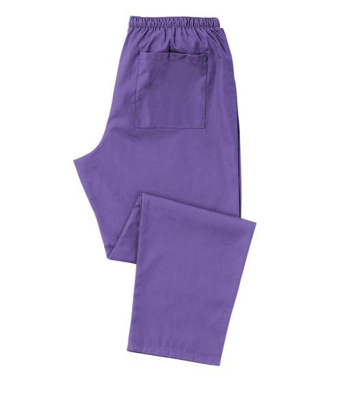 Scrub Trousers Full Elastic Purple - D398PU-XLR
