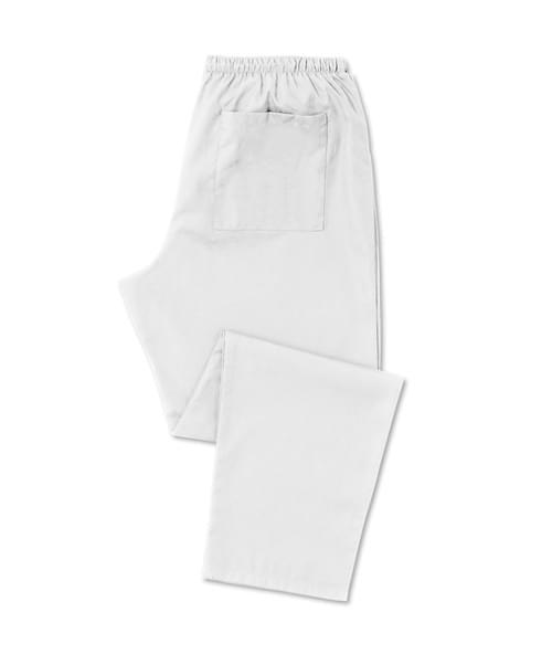Scrub Trousers Full Elastic White - D398WH-XSR