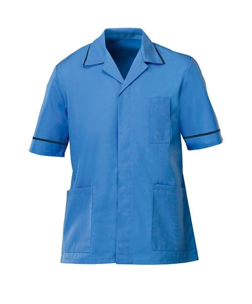 Men's S/S Tunic Hospital Blue/Sailor Navy - G103HN-124