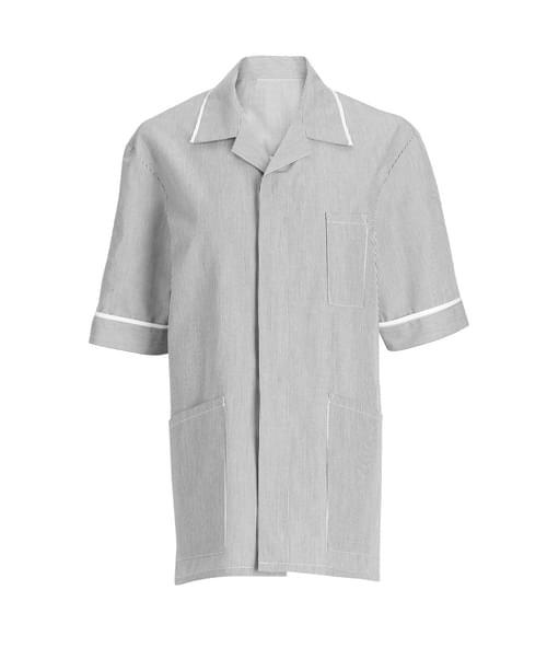 Men's Tunic Pale Grey/White/Str - NM173OM-84