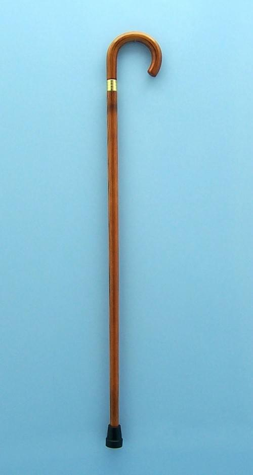 Wooden Cane with Crook Handle