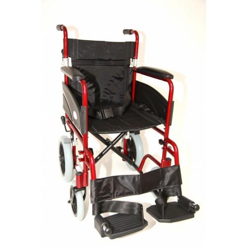 "Folding Aluminium Transit W/chair (Seat 19""x16"") Red"