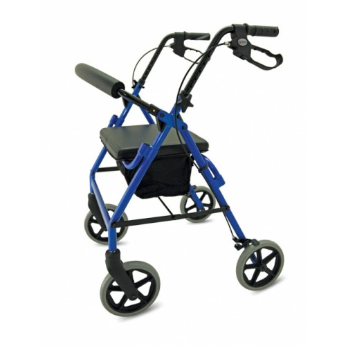 M Brand A4 Premium 4 Wheel Rollator Blue