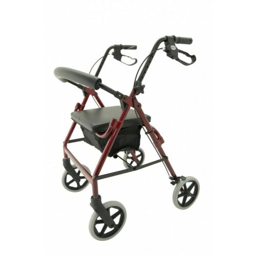 M Brand A4 Premium 4 Wheel Rollator Red