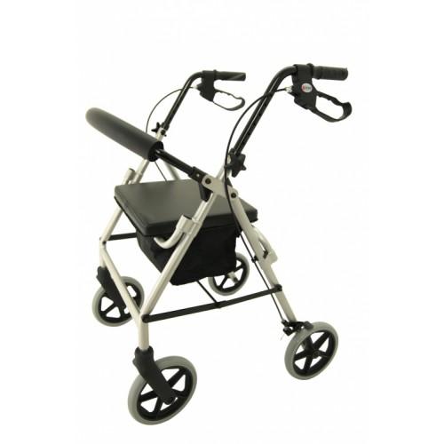 M Brand A4 Premium 4 Wheel Rollator Silver