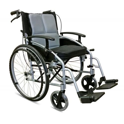 "Folding Aluminium Self Propelled Wheelchair Attendant Handbrakes  (Seat 18"" x 16"")"