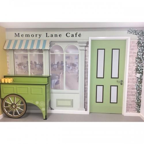 Memory Lane Cafe Mural