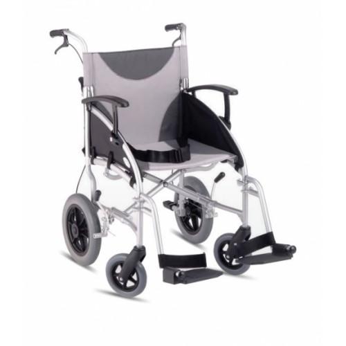 "Lightweight Aluminium Transit Wheelchair 18""-46cm Seat Width"