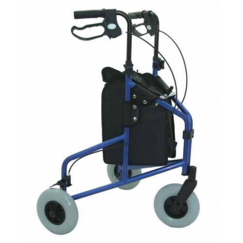 Folding Lightweight Aluminium Tri-Walker with Bag only BLUE