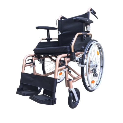 "T Line  18"" Seat - Aluminium Self Propelled Wheelchair - Champagne"