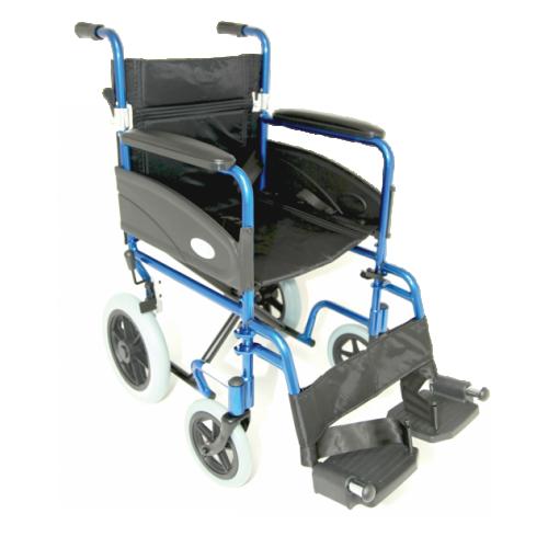 "Folding Aluminium Transit W/chair (Seat 19""x16"") Blue"