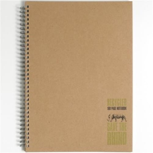 Save The Rhino A4 hard cover recycled twinwire notebook