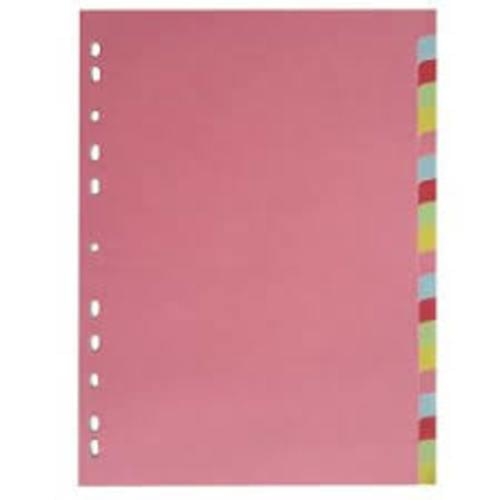Recycled 20 Part Dividers Assorted Pastel Colours