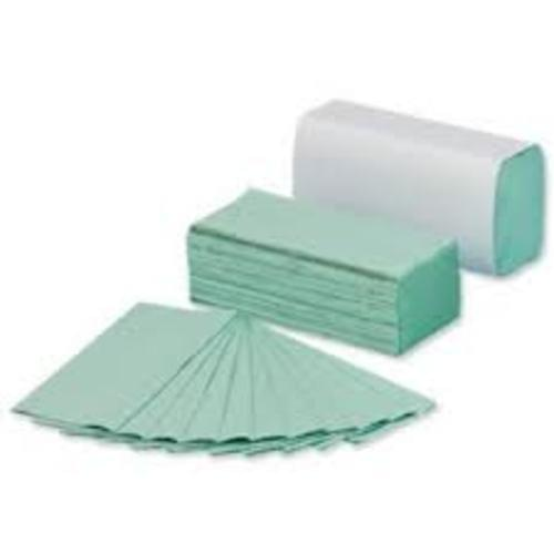 Recycled Hand Towels Single Ply Green x  C Fold box of 2400 towels