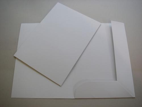 Recycled Tri-Flap White Folders pack of 10