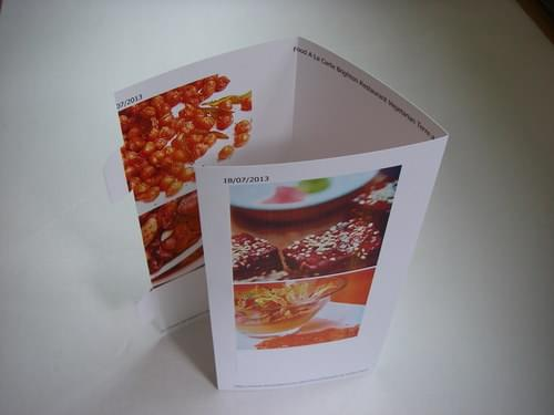 Hydroprint Waterproof 260gsm Menu Card A4 x 25 Triangle