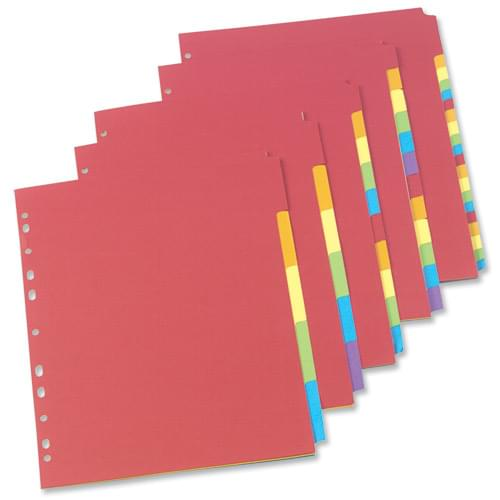 Bright Recycled Dividers 6 part
