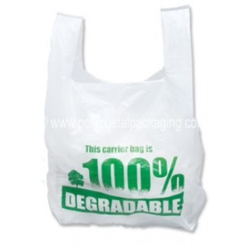 Oxo Degradable White Carrier Bags 100 Pack