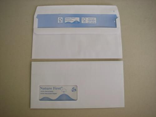 Nature First Recycled White DL Window Envelopes pack 1,000