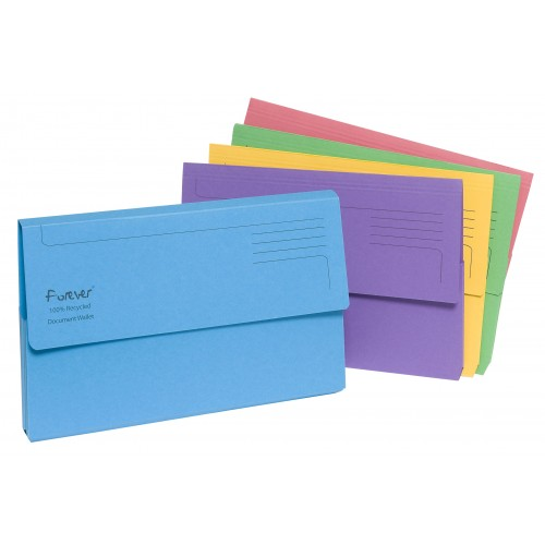 Forever Recycled Document Wallets x 5
