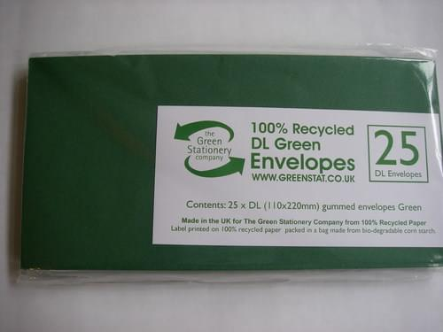 Recycled Green DL Envelopes small pack of 25