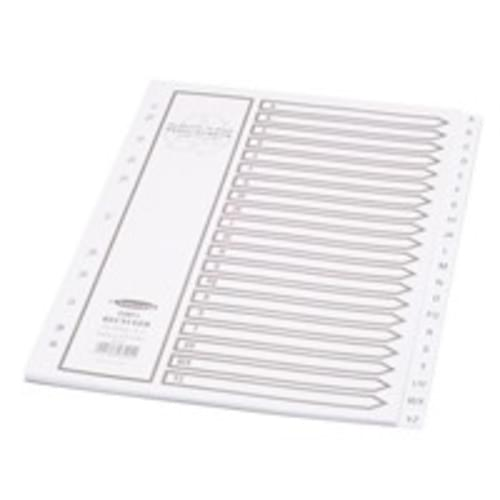 Recycled A-Z Dividers White