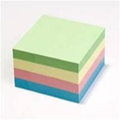 Recycled Economy Pastel Sticky Notes 75mm x 75mm stack of 4 pads
