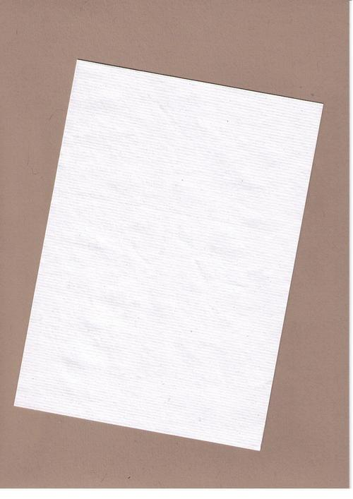 White Ribbed Recycled Kraft Card A4 240gsm 50 sheets