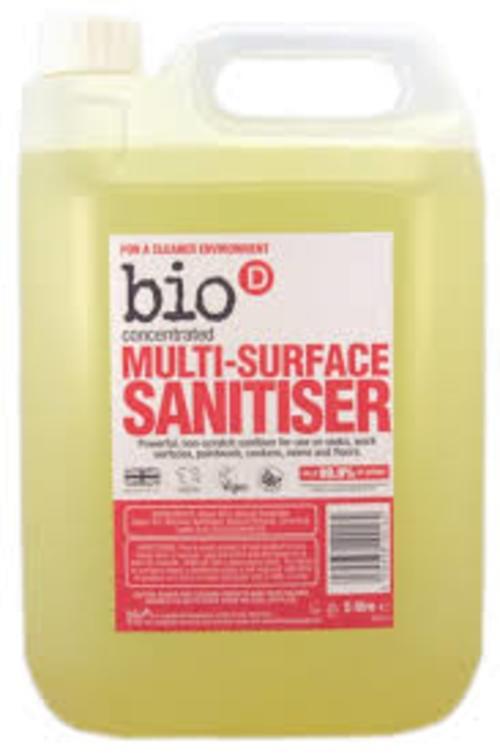 Bio D Multi Surface Sanitiser 5litre - ONLY 1 LEFT IN STOCK