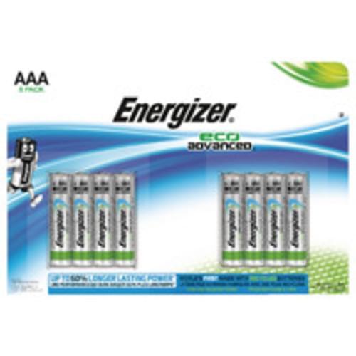 Energizer EcoAdvanced Alkaline AAA Batteries E92 (Pack of 8)