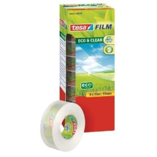 Tesa Eco Recycled Clear Adhesive Tape 19mm x 33m 8 Pack
