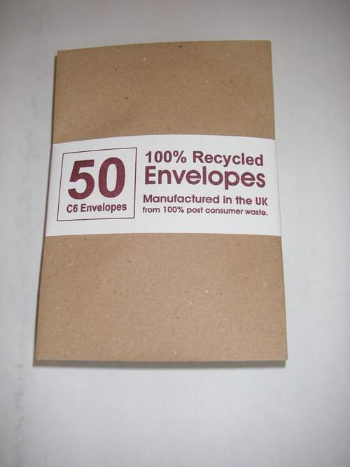 Rough Brown Recycled Kraft C6 Envelopes pack 50 OUT OF STOCK