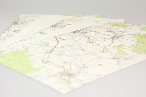 Recycled Map Paper A4 x 100