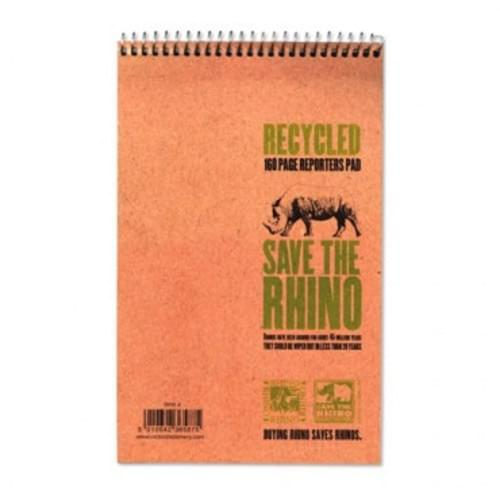 Save The Rhino Recycled Reporters NotePad Single