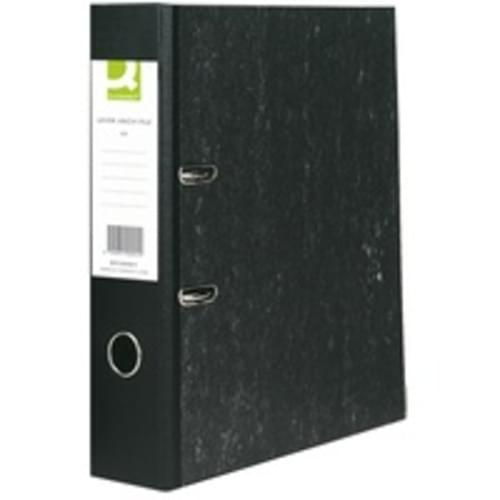 Recycled Lever Arch Files Mottled Black x 10
