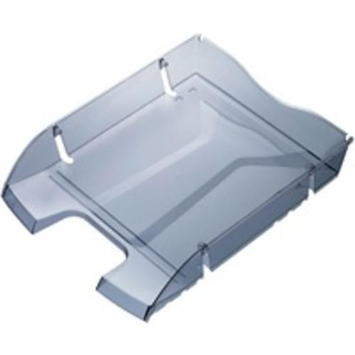 Recycled PET Drink Bottle Shatterproof Letter Tray Grey x 1