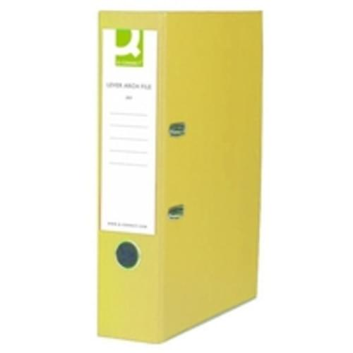 Recycled Lever Arch Files Yellow x 10