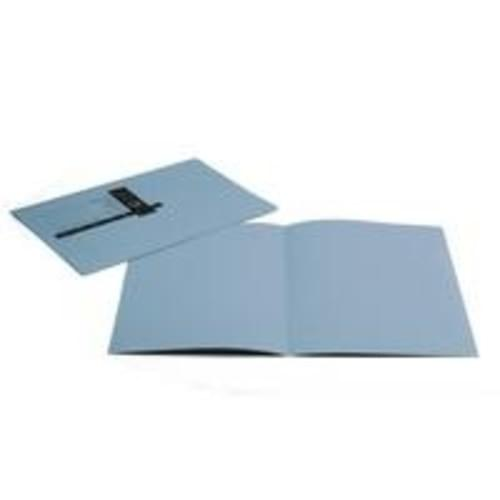 Recycled Square Cut Blue Folders x 100