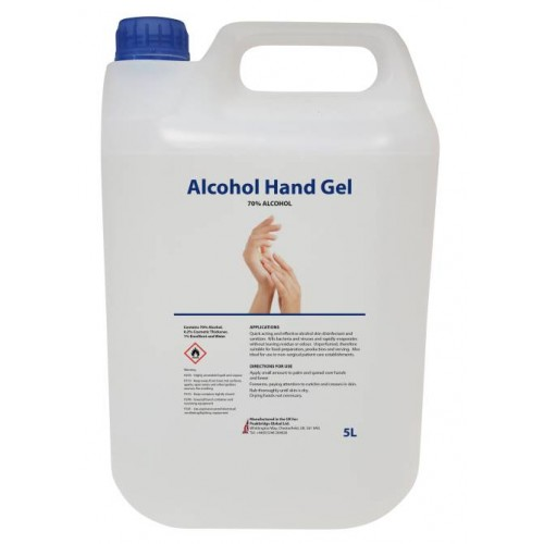 5 litre Hand Sanitiser Gel 70% alcohol
