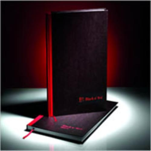 Black N Red A4 Recycled Casebound Notebook