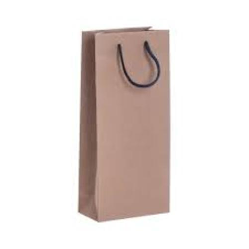 Brown Recycled Wine Carrier with Rope Handles 160x80x360mm pack 50