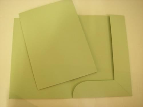 Recycled Tri-Flap Green Folders pack of 10