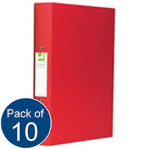 Recycled Ring Binders Red x 10