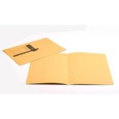 Recycled Square Cut Yellow Folders