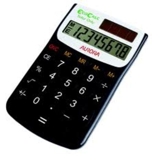 EcoCalc Recycled Pocket Calculator