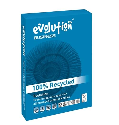 Evolution Business Hi-White Recycled Copier Paper 100gsm A4