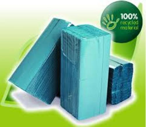 Recycled Hand Towels 1ply Blue x C Fold box of 2400