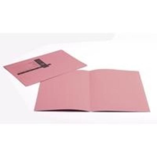 Recycled Square Cut Pink Folders x 100