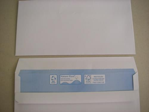 Nature First Recycled White DL Envelopes pack 1,000